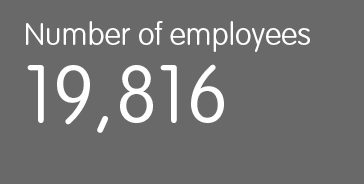 Number of employees 19,816